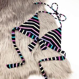 Victoria Secret | Neon Stripe Bikini Top